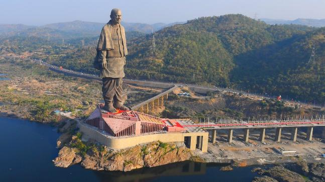 World's tallest statue, sardar vallabai patel, statue of unity,gujarat government,narendara modi,ministry of tourism,183m statue,statue of liberty